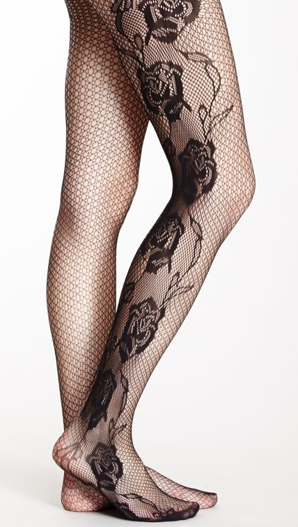 Rose net tights