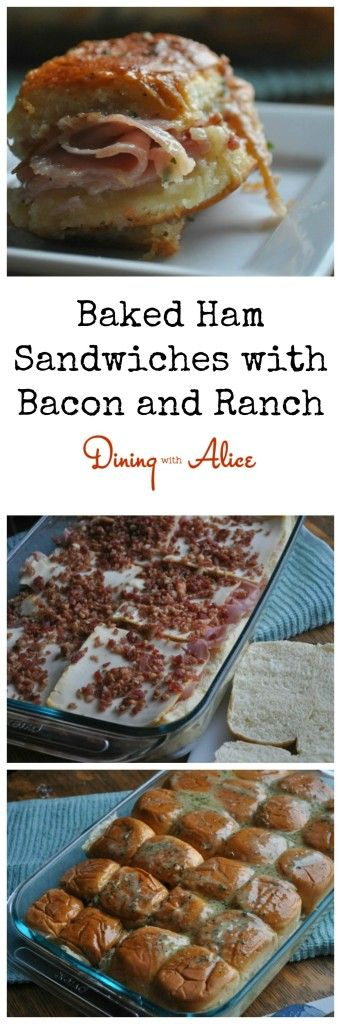 Baked Ham Sandwiches Dining with Alice