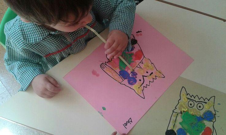 Pintando con palliña.