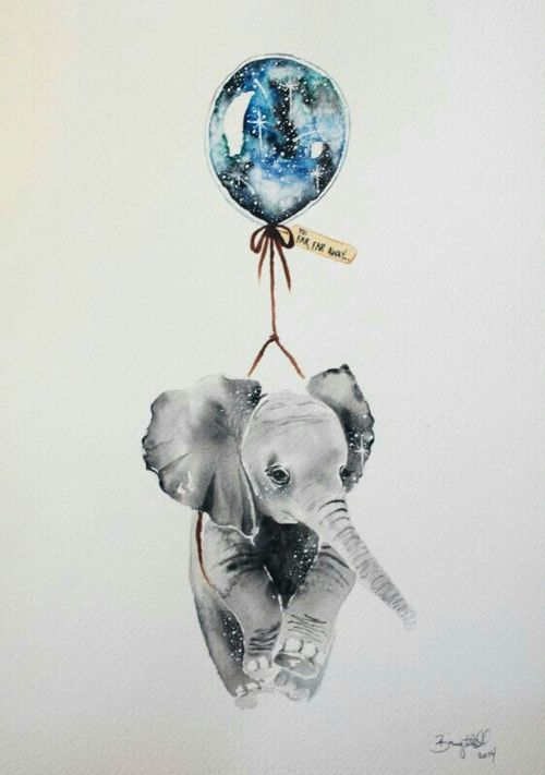 art, elephant, and balloon afbeelding                                                                                                                                                                                 More