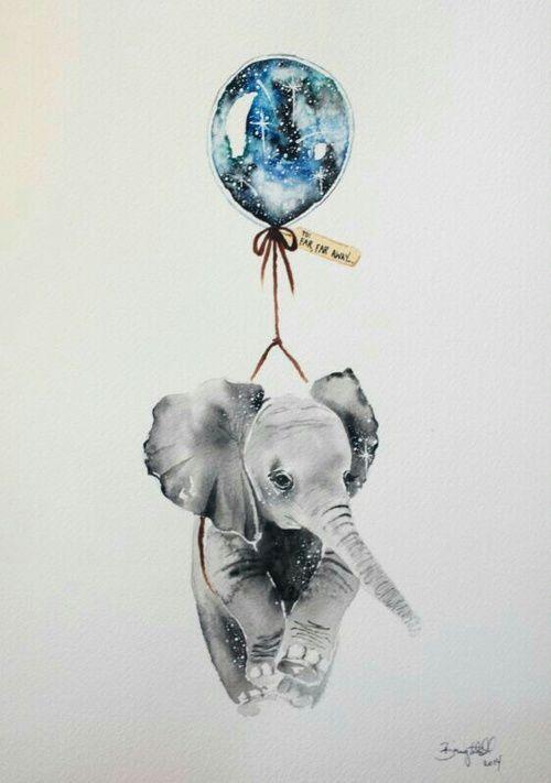 art, elephant, and balloon afbeelding