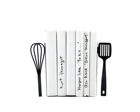 Cocina sujetalibros de metal / / espatula y batidor / / funcional decoración cocina moderna / / inauguración de la casa actual / / libre de envío mundial / /