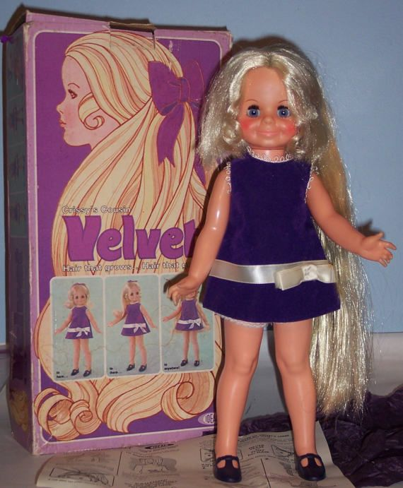 Near Mint 16 inch Ideal Velvet Doll with box and papers