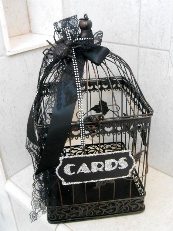 Large Spider Wedding Birdcage Card Holder By ThoseDays