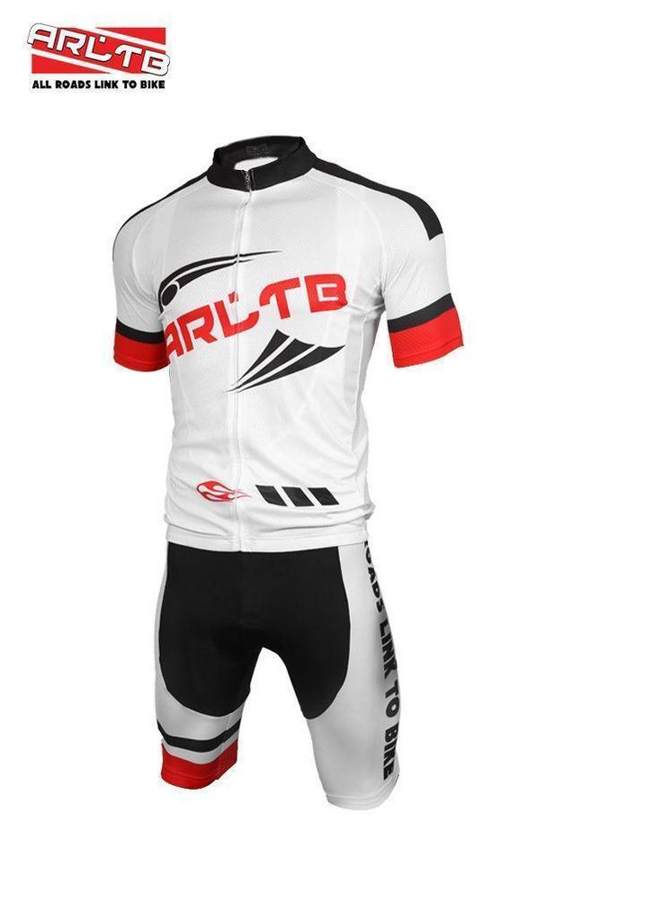 Mens Sports wear Bike Cycling Short Sleeve Jersey and Bicycle Padded Shorts set
