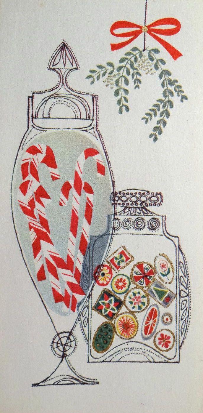 Vintage card christmas pinterest retro design och for Inspirational christmas cards design