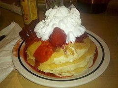 How to Make IHOP Cheesecake Pancakes Recipe- If you'd like to make a healthier version of this dish, combine four ounces of cream cheese with two large eggs, a little flaxseed, and sugar-free sweetener to taste.