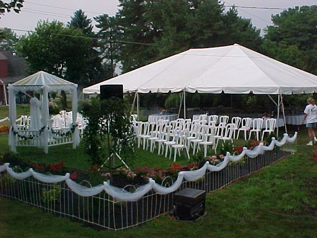 Image detail for outdoor wedding decorations with tent for Outdoor garden fence decoration