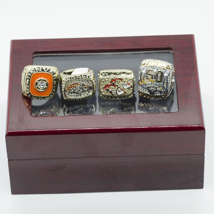 Denver Broncos Football Jewelry World Chamionship Team Sports Ring Gift Box Set #DenverBroncos