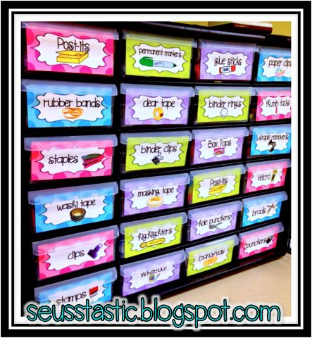 I am in love with my teacher toolbox! I got the labels from my friend, Erica Bohrer from Erica's Ed-ventures. She has several different styles. I even made one for my home office. You can check them out here.