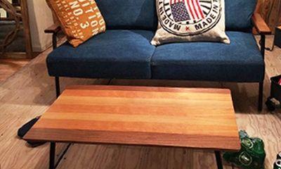 3種類の天然木が織りなす優しい色模様。折り畳みテーブル90×48cm【ELMER】- エルマー -