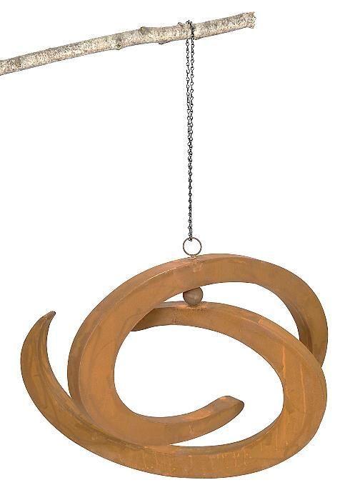 Windswirl Rusted Metal Hanging Garden Art Large $239.95