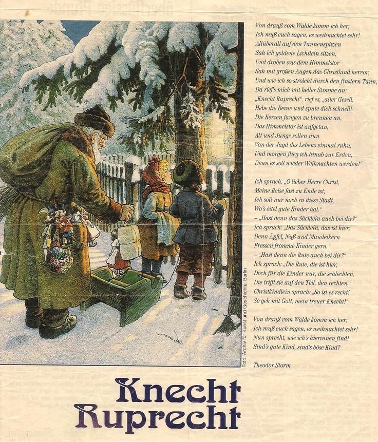 Knecht Ruprecht I Love It Gedicht Weihnachten