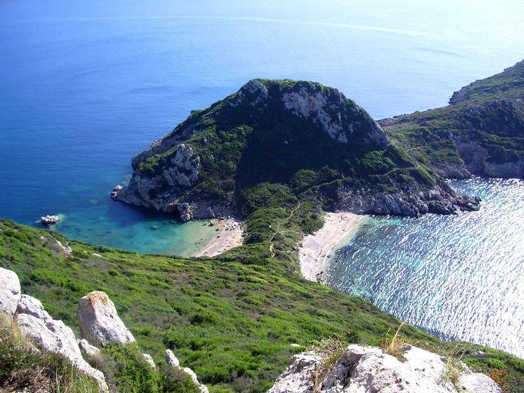 die Zwillingsbucht auf Korfu - Agios Georgios Pagi