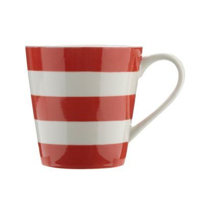 Designer stoneware striped painted mug at debenhams.com