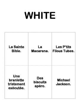 French Cards Against Humanity..... try this with Spanish