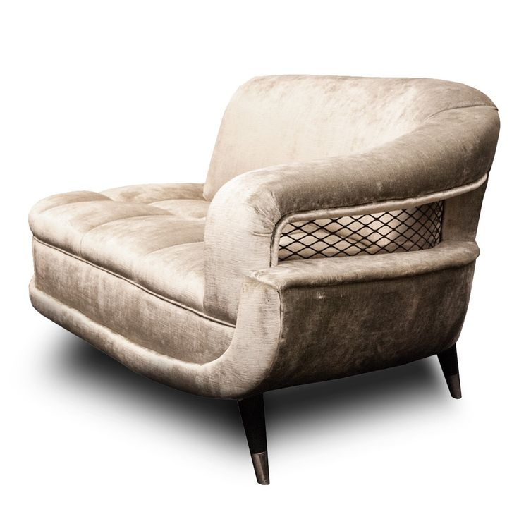Mid Century Velvet Curved and Tufted Sette at DecorNYC ...