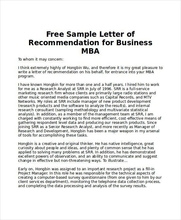 Reference Letter Mba Ten Quick Tips Regarding Reference Letter Mba Letter Of Recommendation Reference Letter College Recommendation Letter