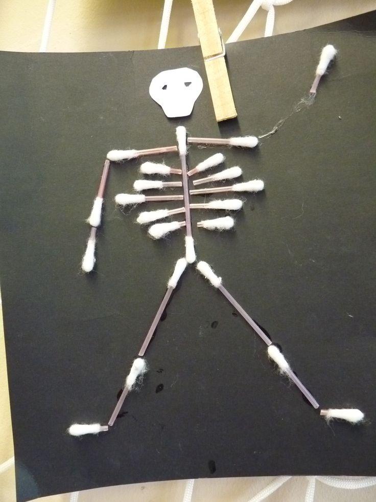 Fültisztító-csontváz, környezetismerethez készítettük, az emberi test témakörben