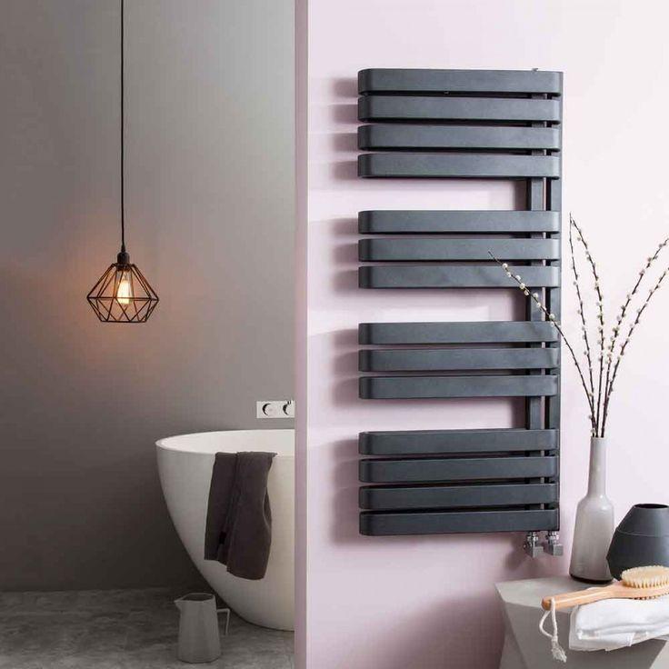 Bauhaus Svelte Vertical Designer Heated Towel Rail Radiator - 1100 x 500mm