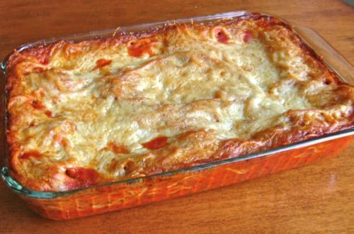 Baked Spaghetti Casserole Recipe--made it and it's soooo good, but I DID use ground beef
