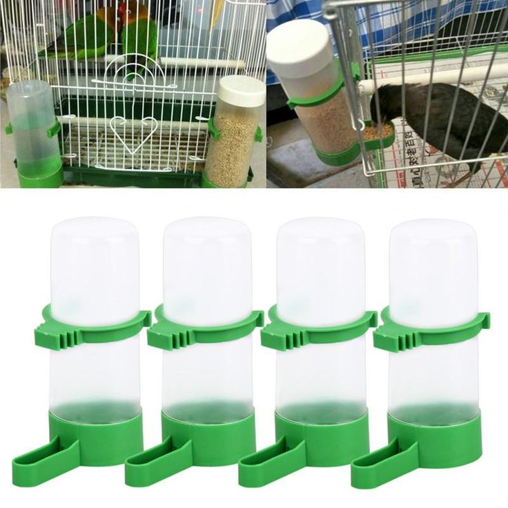 Water And Food Automatic Bird Feeders ( 4 Pieces )