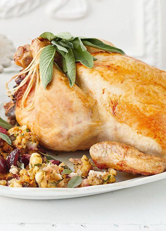 How to make Roast Chicken with Cherry Hazelnut Stuffing