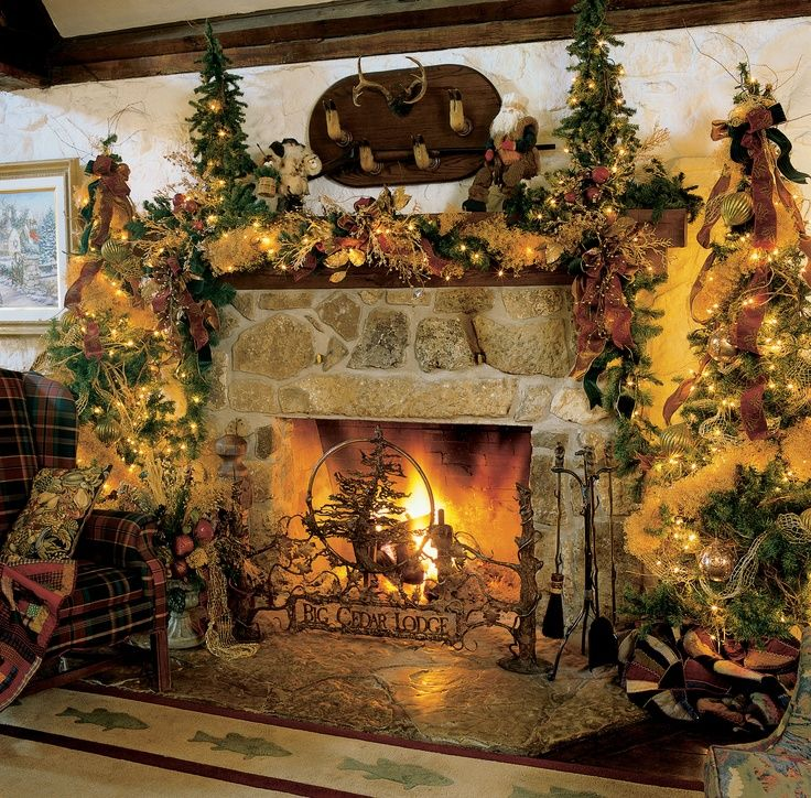 Country Christmas Mantels: 17 Best Images About Fireplaces On Pinterest