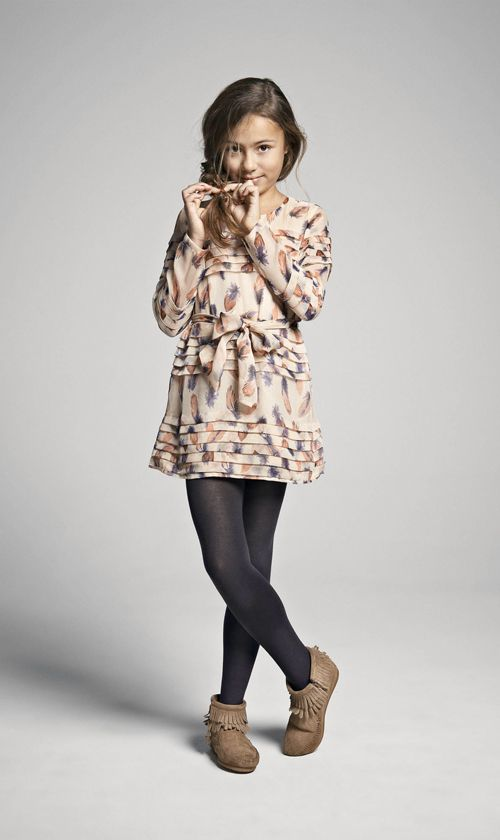 moccasins and tights - little longer skirt for grown up girls