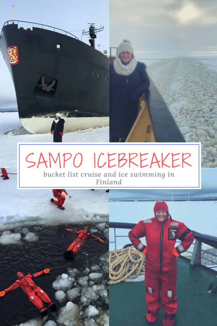 Here's a once in a lifetime cruise you may not have heard of! Imagine being onboard a ship as it breaks the ice as it moves forward or floating in a sea of ice. It sounds dangerous but the Sampo Icebreaker cruise in Kemi, Finland is anything but. While gaining in popularity the Sampo Icebreaker was the very FIRST icebreaker to allow tourists onboard. It cruises along the Baltic Sea in the Northern Gulf of Bothnia. This is one cruise you need to add to your bucket list!
