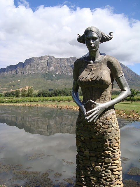 Statue at Saronberg in South Africa
