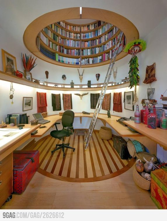 Love How The Books Are In Ceiling And Open Space For Office Great Me As A Book Worm