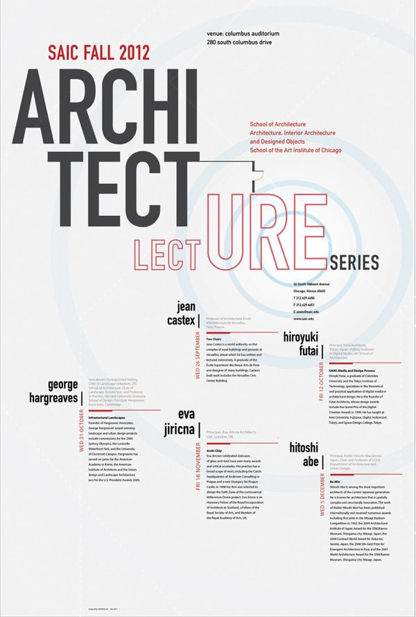 Lecture Series Announcement Poster