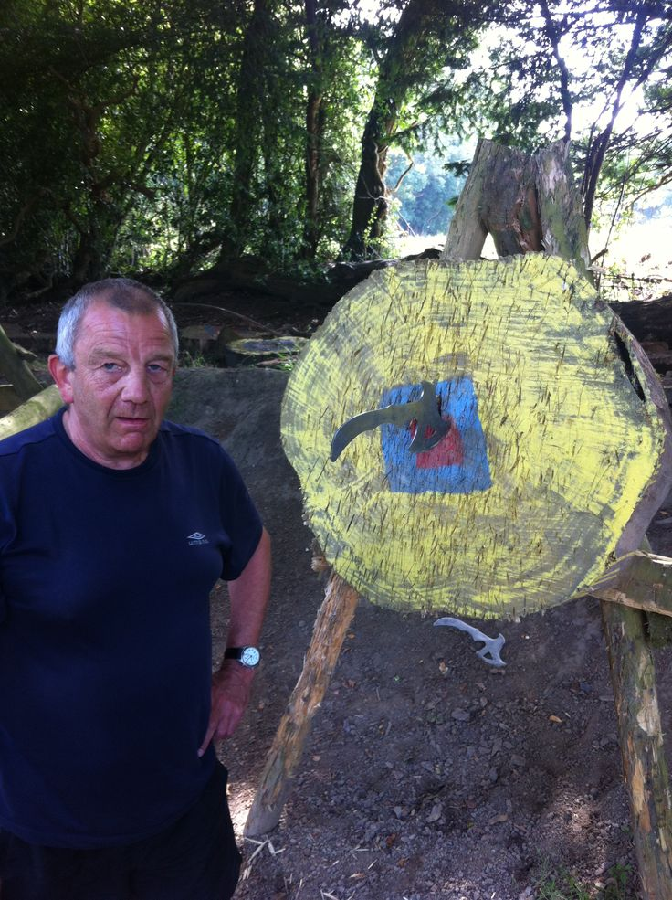 Hitting the #bullseye during #axethrowing at Blind Veterans UK.
