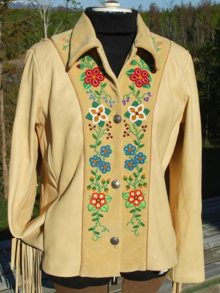 Mousetrap Clothiers custom leather clothing & beadwork beading