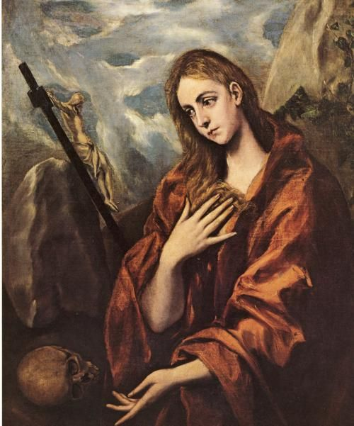 """Marie Madeleine de Le Gréco Francis had a soft spot for Mary Magdelene, whom he felt had been unfairly maligned by history. He often pointed out that his surname was """"the Greek."""" He had an El Greco art book in his library."""