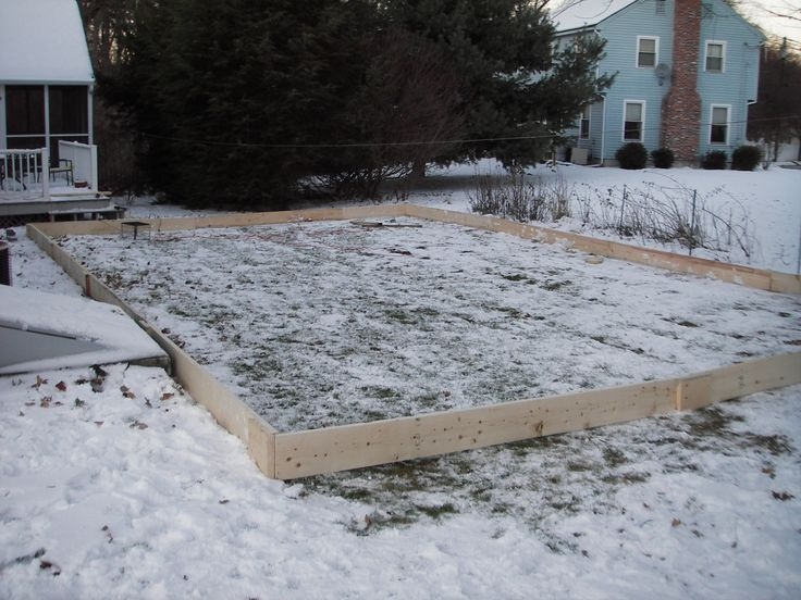 Backyard Ice Rink Boards