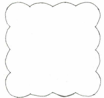 scalloped frame applique template