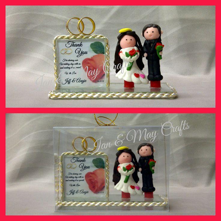Wedding Souvenir Clay Couple Double Frame  https://www.facebook.com/media/set/?set=a.335001406646883.1073741836.125436300936729&type=3