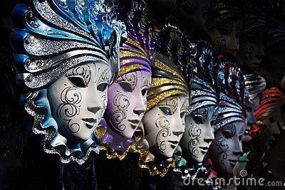 Venetian masks by Galina Barskaya, via Dreamstime