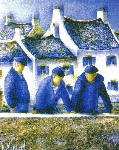 Bernard Morinay et sa galerie au Conquet sur le quai du Drellac'h