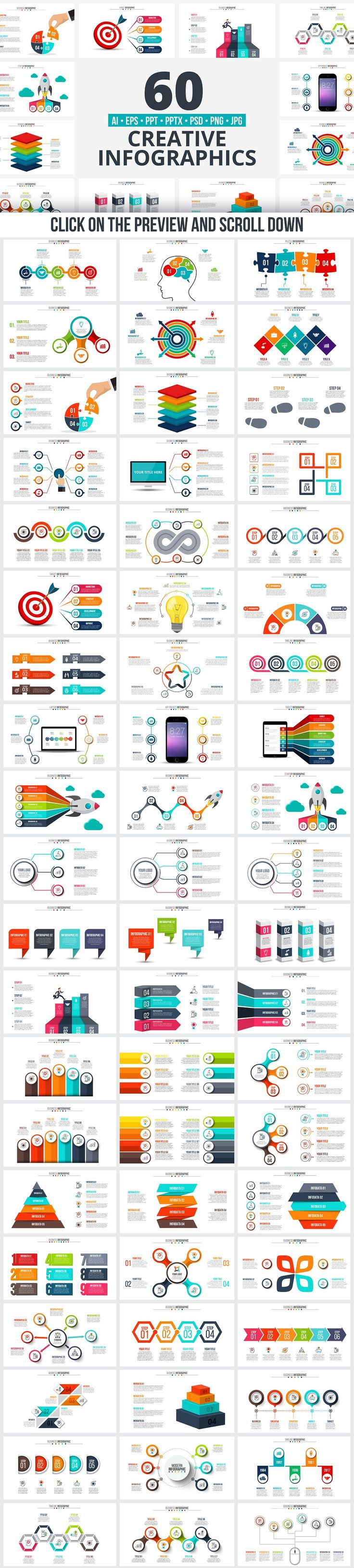 PPT infographic elements bundle by Abert