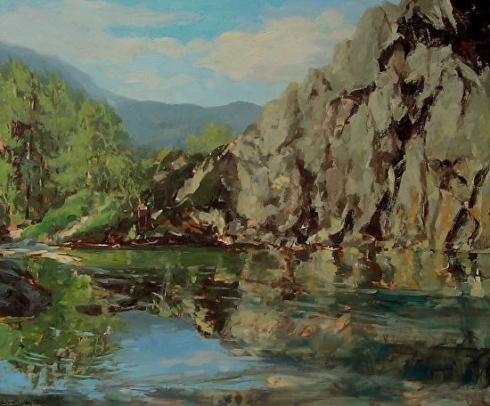 Sean McCann - Rydal Cave- Oil - Painting entry - October 2013 | BoldBrush Painting Competition