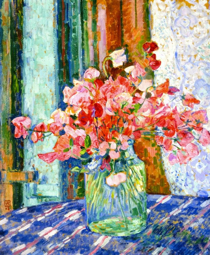 Sweet Peas (also known as Pois de senteur)  Theo van Rysselberghe