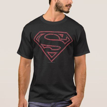 Superman S-Shield | Red Outline Logo T-Shirt - tap to personalize and get yours