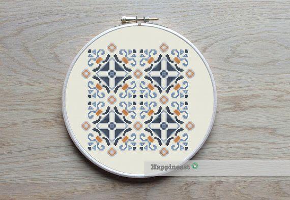 geometric cross stitch pattern moroccan ornament by Happinesst