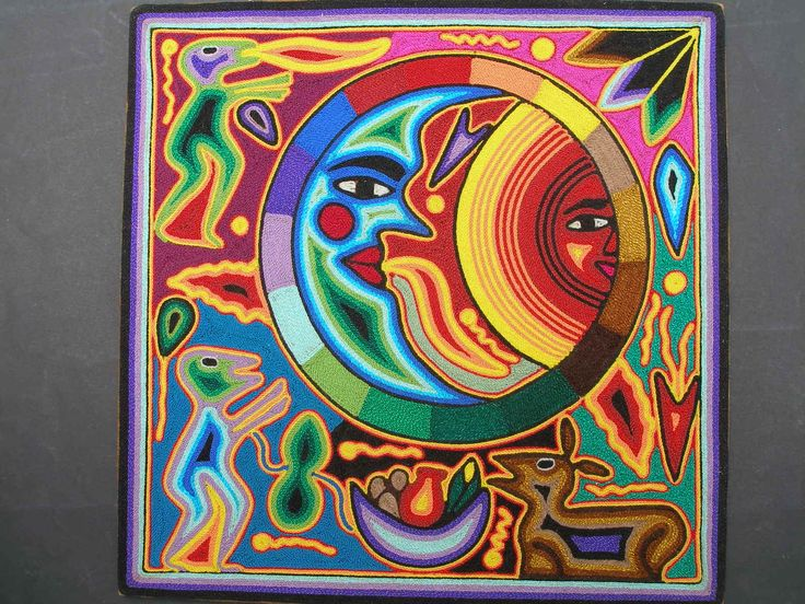 Huichol Yarn Painting For A Mexican Multicultural Art