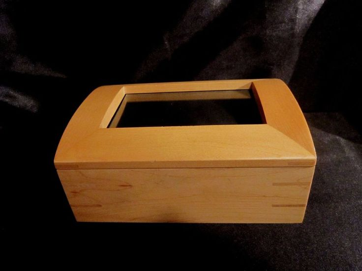 CRATE & BARREL COVERED TEAK STORAGE/PHOTO BOX w/Space for 4x6 Photo - THAILAND #CrateBarrel #Traditional $27.99