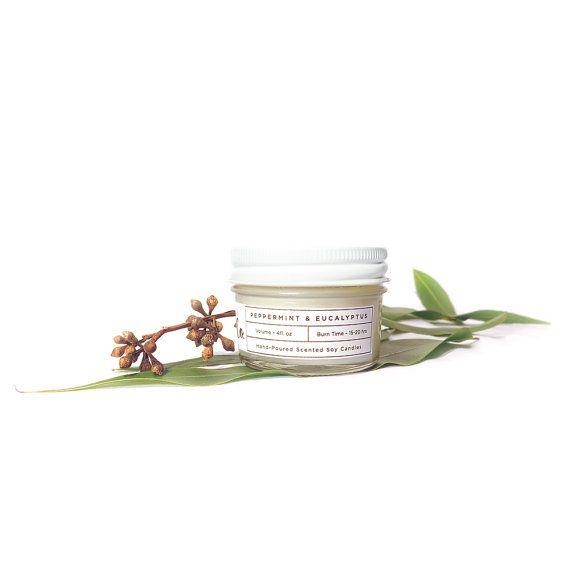 Soy Candle Peppermint & Eucalyptus