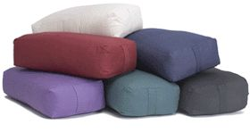 The Rectangular Cotton Yoga Bolster from Yoga Accessories is firm and supportive, yet soft and supple. This is our top-selling bolster because it's the perfect size and shape: rectangular and flat on the top and bottom, and it comes in 9 bright and beautiful color options!